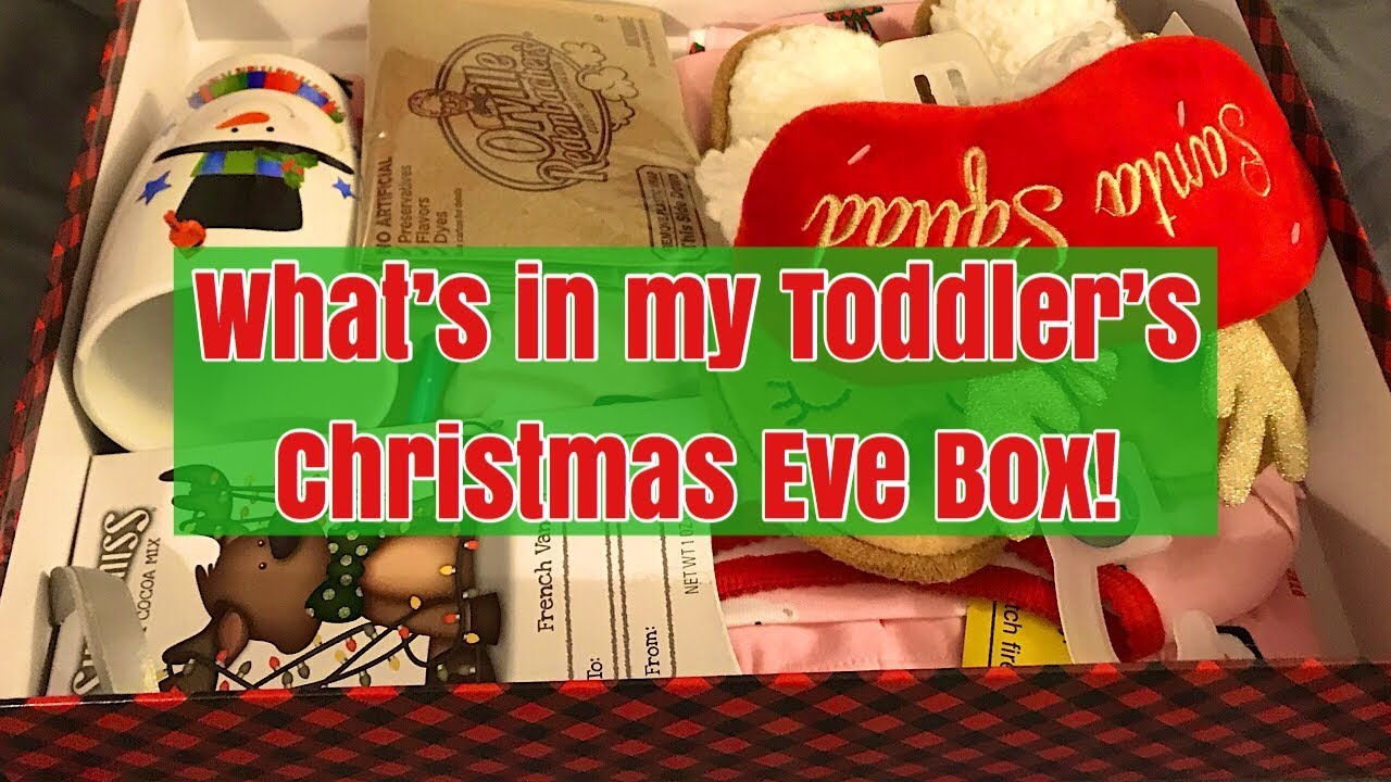 Whats In My Toddlers Christmas Eve Box Vlog Youtube