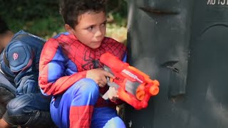 Nerf Gun Challenge + More | Mother Goose Club and Friends
