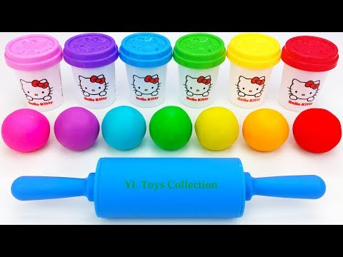 Thumbnail: Learn Colors Hello Kitty Dough Hulk Spiderman Ice Cream Popsicles Surprise Toys Shopkins Cutie Cars