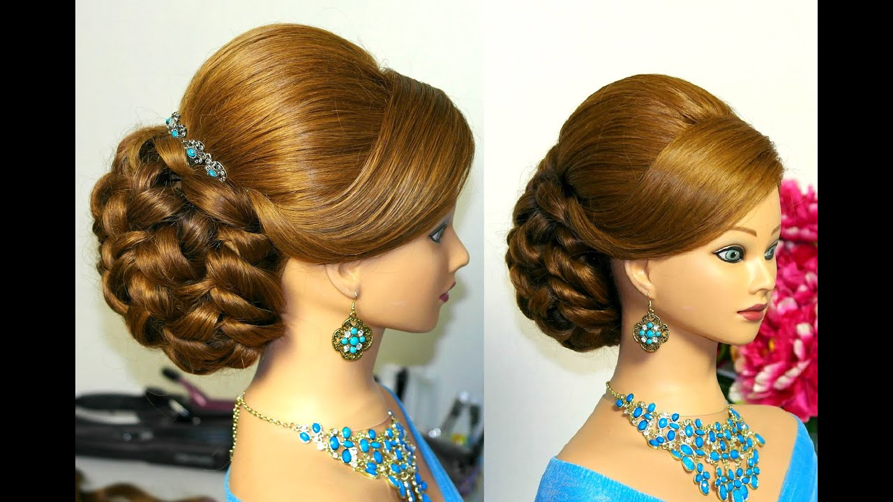 hairstyle for long hair tutorial. bridal updo - youtube