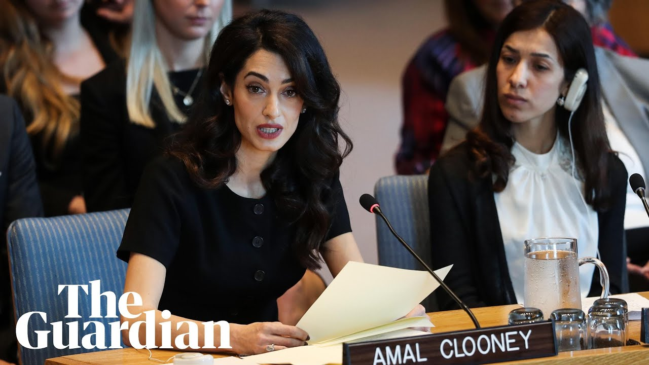 Amal Clooney urges UN to adopt sexual violence resolution: 'This is your  Nuremberg moment'