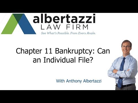 Can an individual person file for Chapter 11 bankruptcy?
