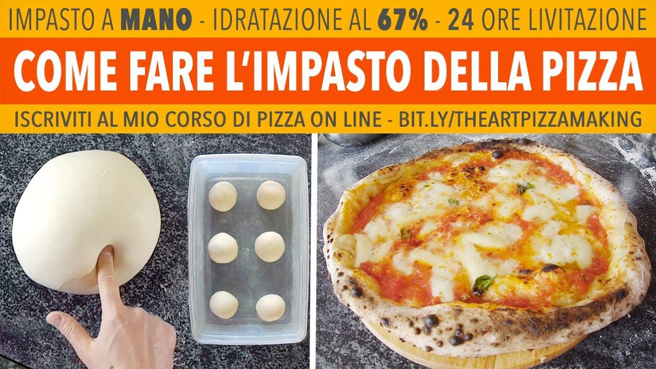 Ricetta Impasto Pizza Farina 00.Come Fare L Impasto Pizza Napoletana A Mano 67 24 Ore Lievitazione Ricetta Di Gigio Attanasio Youtube