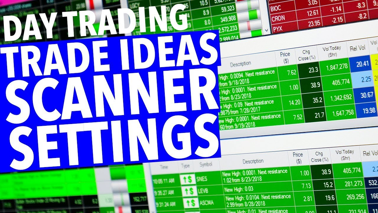 TRADE IDEAS SCANNER SETTINGS! Setup!