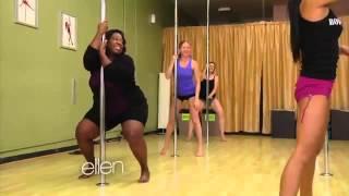 Loni Love Learns To Pole Dance2527