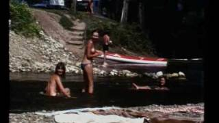 Camping and swimming in Dordogne 1976