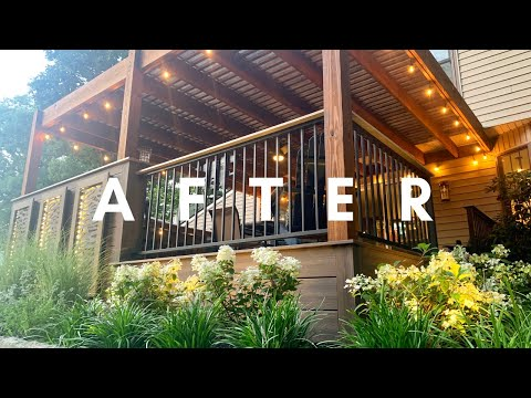 Deck, Patio, and Pergola Build Time Lapse - 7 Day Backyard Makeover