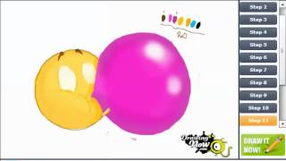 How to draw Bubble gum