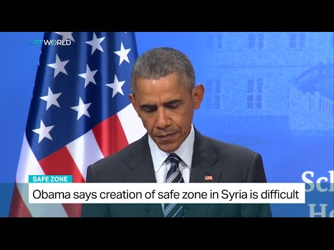 US President Obama says creation of safe zone in Syria is difficult