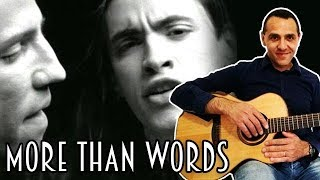 More Than Words - Extreme - Acoustic Guitar Lesson Tutorial - How to Play