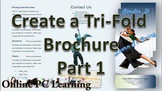 Microsoft Word - Make Brochures in Microsoft Word 2010 - Part 1