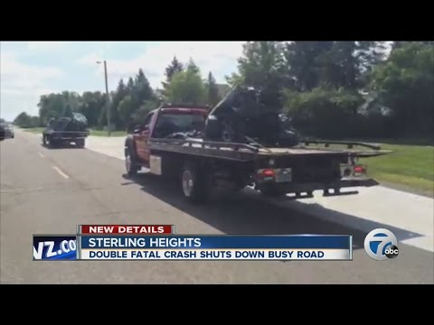 Two die in Sterling Heights crash after fleeing from police