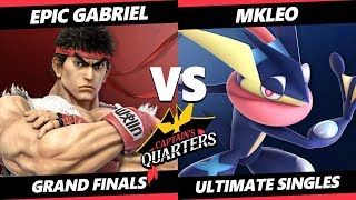 Captain's Quarters 2 Grand Finals - Epic Gabriel (ROB, Ryu) Vs. T1 | MkLeo (Greninja) SSBU Singles