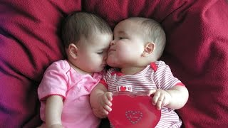 Twin Babies Kissing Compilation 2014 [NEW]