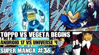 MASTERED SUPER SAIYAN BLUE VEGETA VS TOPPO! Dragon Ball Super Manga Chapter 36 Review