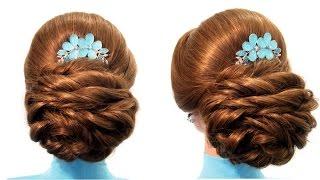 Свадебная прическа,вечерняя прическа,прическа на выпускной Wedding prom hairstyle(Канал с прическами http://www.youtube.com/user... Предлагаю вам коллекцию оригинальных и красивых причесок.Мои видео..., 2015-03-11T17:20:59.000Z)