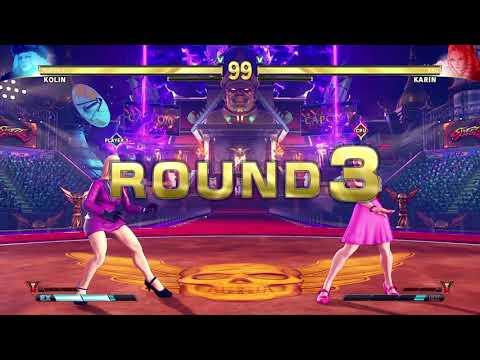 STREET FIGHTER V Kolin vs Karin