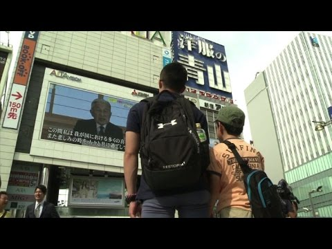 Tokyo residents react after Japan
