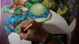 Teenage Mutant Ninja Turtle (Leonardo) Drawing