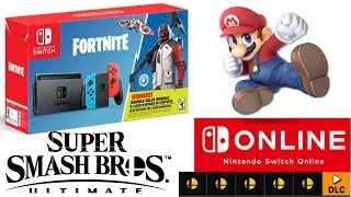 Nintendo Switch Online Update | Rumor 5 New Smash Ultimate Stages | Nintendo Switch Fortnite Bundle