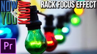 How to do Rack Focusing in Premiere Pro - VLearning