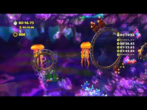 Sonic Lost World (Wii U): Lava Mountain - Zone 2 - Time Attack (3:14.76)