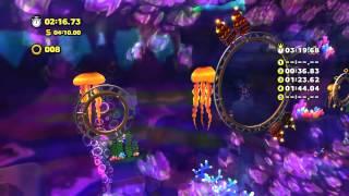 Sonic Lost World (Wii U): Lava Mountain - Zone 2 - Time Attack (3:14.76)