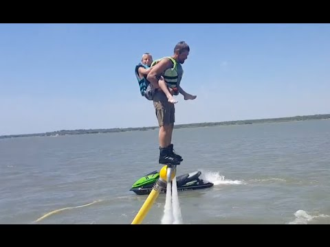 Homemade Flyboard with 2 up flying! on homemade invention, homemade pwc lift, homemade segway, homemade cigarette lighter with flame, homemade hydrofoil,