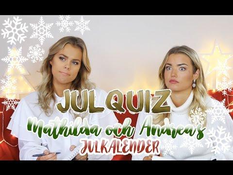 3698d3cc76d8 JULQUIZ - Mathilda och Andrea's julkalender - YouTube