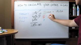How to Calculate Your Grade in a Class