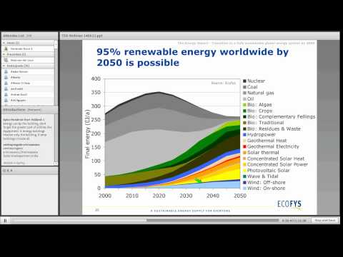 The Energy Report - A fully sustainable and renewable global energy system is possible by 2050