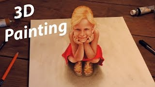 3D Painting on paper /How To Draw an Illusion