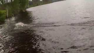 RC BOAT HIMOTO MAKIRA V HULL BOAT JUMPING THE WAVES