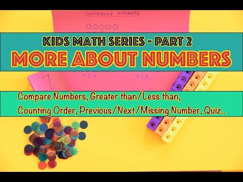 Kids Math Series | Part 2 : Compare, Greater/Less than, Order & Missing Numbers by 5 year old Ishaan