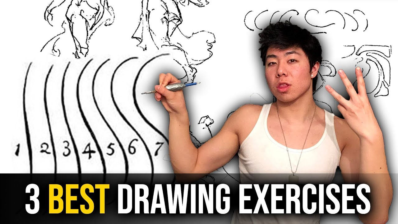 3 Best Drawing Exercises to Improve Your Art (DYNAMIC LINES INSTANTLY- AT  ANY LEVEL!)