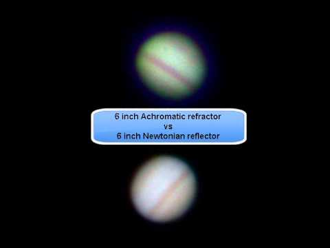 Achromatic refractor vs newtonian reflector jupiter youtube