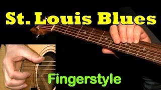 St. LOUIS BLUES: Fingerstyle Guitar + TAB by GuitarNick