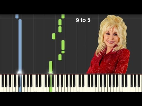 9 to 5  Dolly Parton  Piano Tutorial MIDI Link In Description