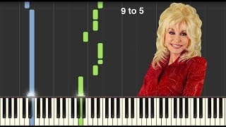 9 to 5 - Dolly Parton - Piano Tutorial [MIDI & Sheets In Description]