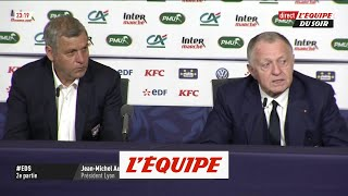 Jean-Michel Aulas repousse la décision sur l'avenir de Bruno Genesio - Foot - Coupe