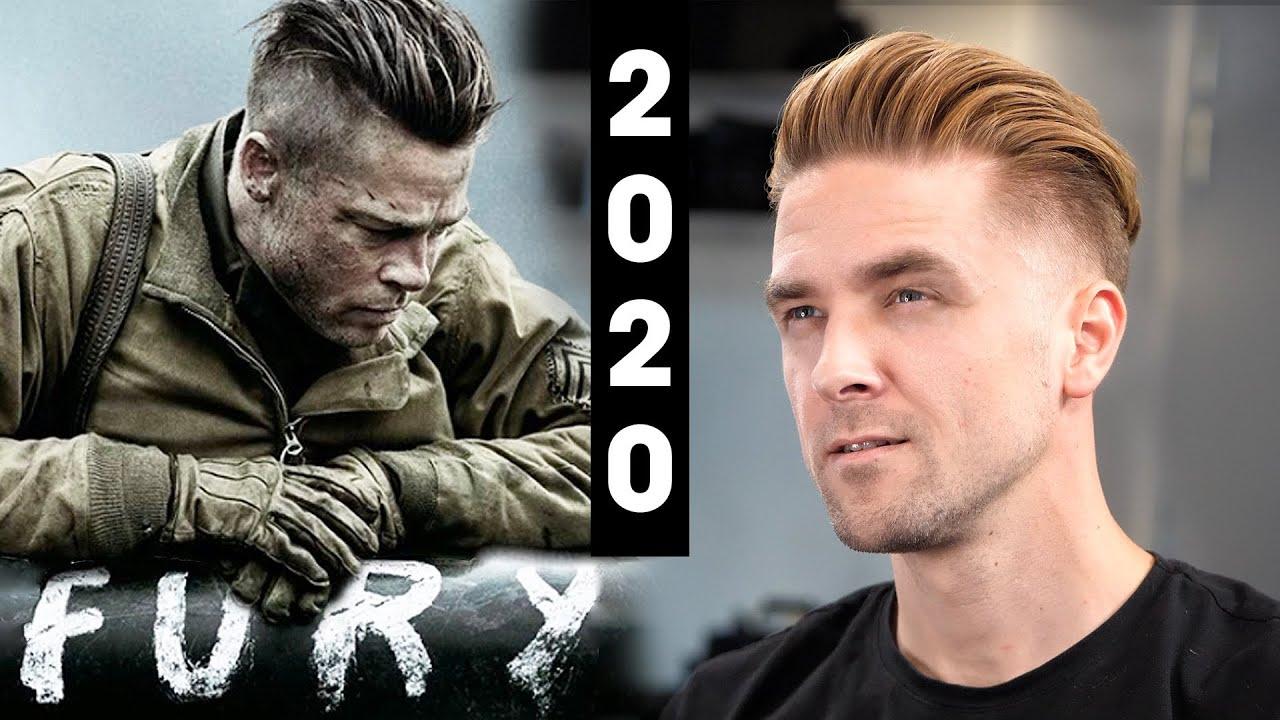 Brad Pitt Fury Undercut - Men's Hair 2020 - YouTube
