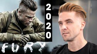 Brad Pitt Fury Undercut - Men's Hair 2020