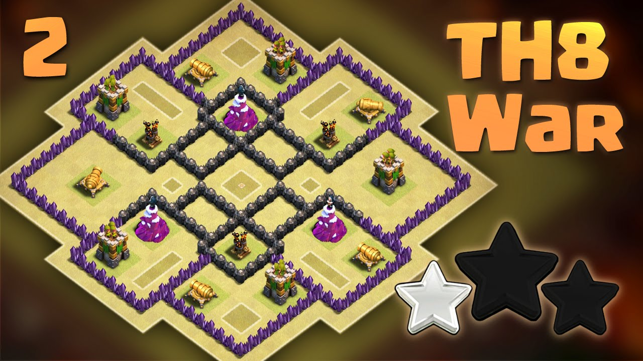 Th8 War Base Anti Everything Anti 3 Star 2016 Clash Of Clans Youtube