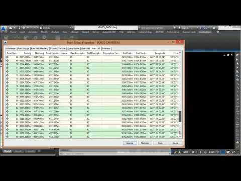 Grupo de puntos (POINTS GROUP) - AutoCaD Civil 3D