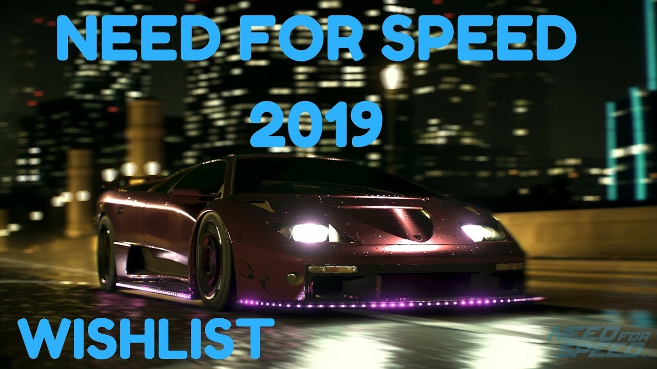 need for speed 2019 game