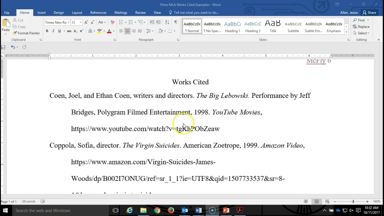 how to cite films in works cited mla style 8th edition