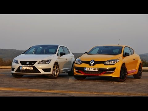 seat leon cupra v renault megane rs which hot hatch is the best youtube. Black Bedroom Furniture Sets. Home Design Ideas