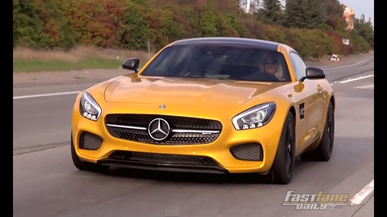 Mercedes Benz Sls Amg Review >> 2016 Mercedes-AMG GT S Review - Fast Lane Daily - YouTube