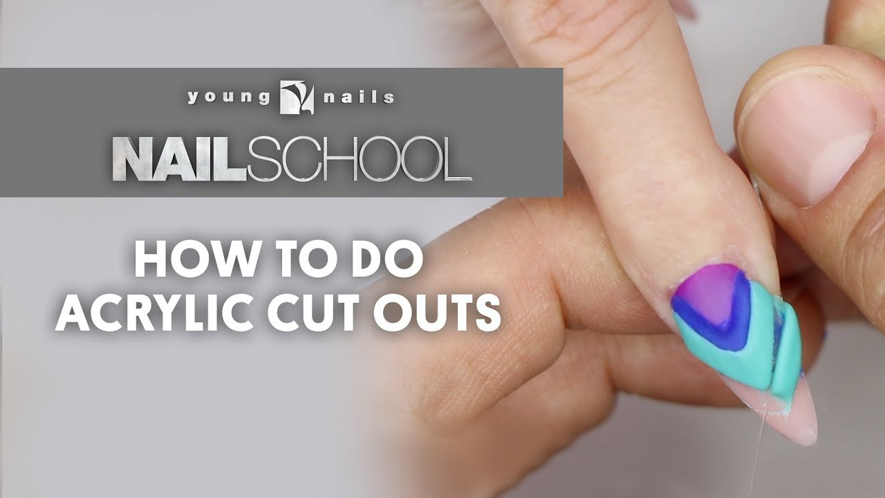 Yn Nail School How To Do Acrylic Cut Outs Youtube