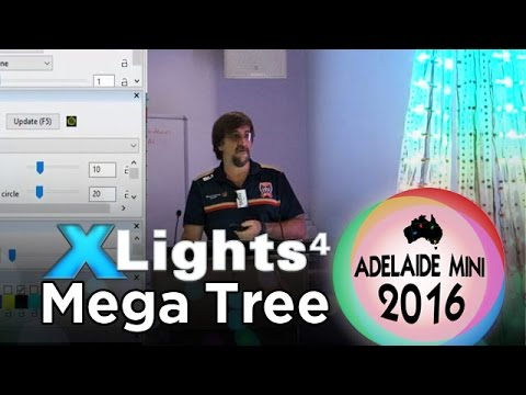 Adelaide Mini 2016 - xLights 4 Mega Tree & Tree Construction